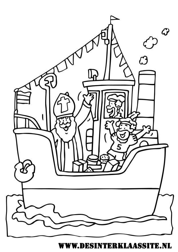 Cijfer Kleurplaat Zwarte Piet Sinterklaas Kleurplaten Desinterklaassite Nl